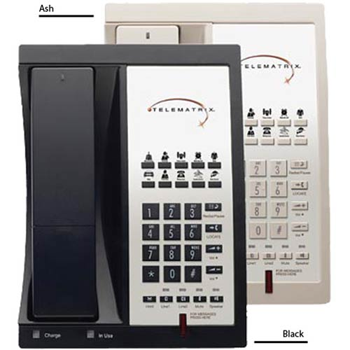 9602MWD B | 2-Line DECT 1.9 GHz Cordless Speakerphone with 10 Guest Service Buttons - Black | Telematrix | 985591, 9600 Series, Marquis Series, Cordless Hospitality Phone, Guest Room Phone, Hotel Phone