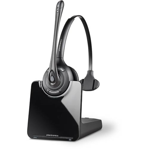 Cs510 over the head monaural uc wireless office headset plantronics cs500 headsets - Office phone wireless headset ...