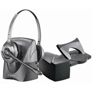 Plantronics CS361N BUNDLE Over-the-Head Cordless Binaural Headset NC bundled with HL10 Lifter