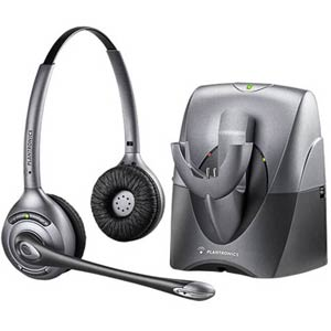 CS361N | SupraPlus Wireless Binaural Noise Canceling Headset | Plantronics | 70520-01, 70520-02, SupraPlus Wireless, Binaural, Noise Canceling