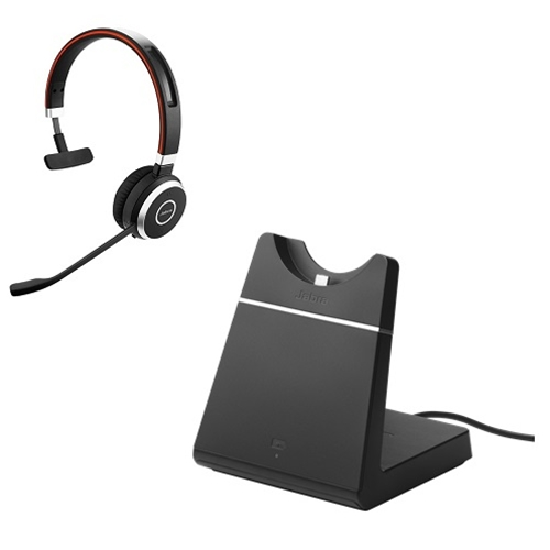 Jabra Evolve 65 Mono Headset For Skype For Business W Charging Stand