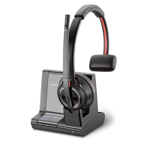 Plantronics Savi 8210 M Wireless Headset Effortlessly Manage Pc Mobile And Desk Phone Calls With Enterprise Grade Dect Audio