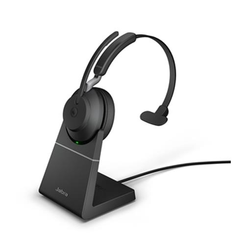 Jabra Evolve 2 65 Wireless Headset Link 380 Usb C Ms Mono Headset With Stand Black